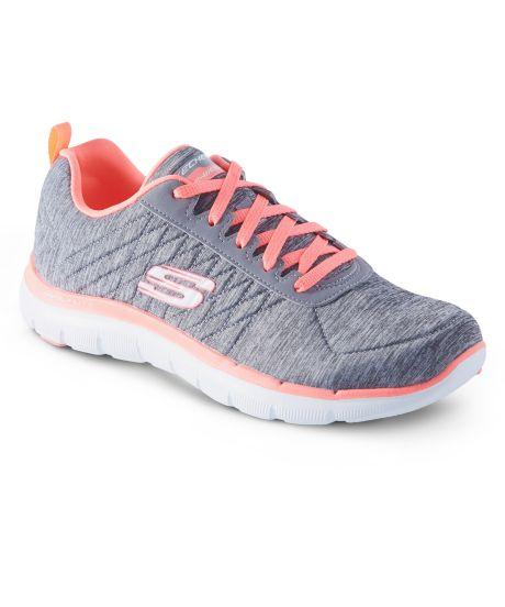 Chaussures à lacets Skechers Fitness grises femme