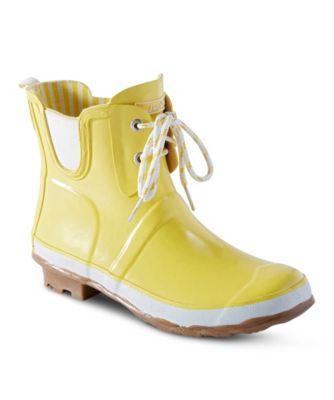 Women's WindRiver Women's Poppy Solid Rain boots Yellow 10