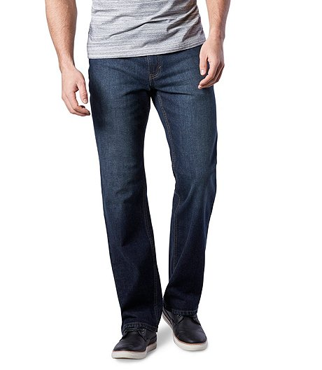 Men's Value Stretch Straight Fit Jeans - Dark Wash
