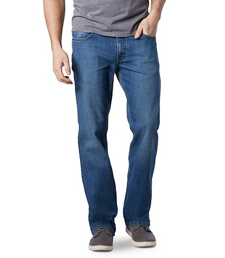 Men's Value Stretch Straight Fit Light Wash Jeans