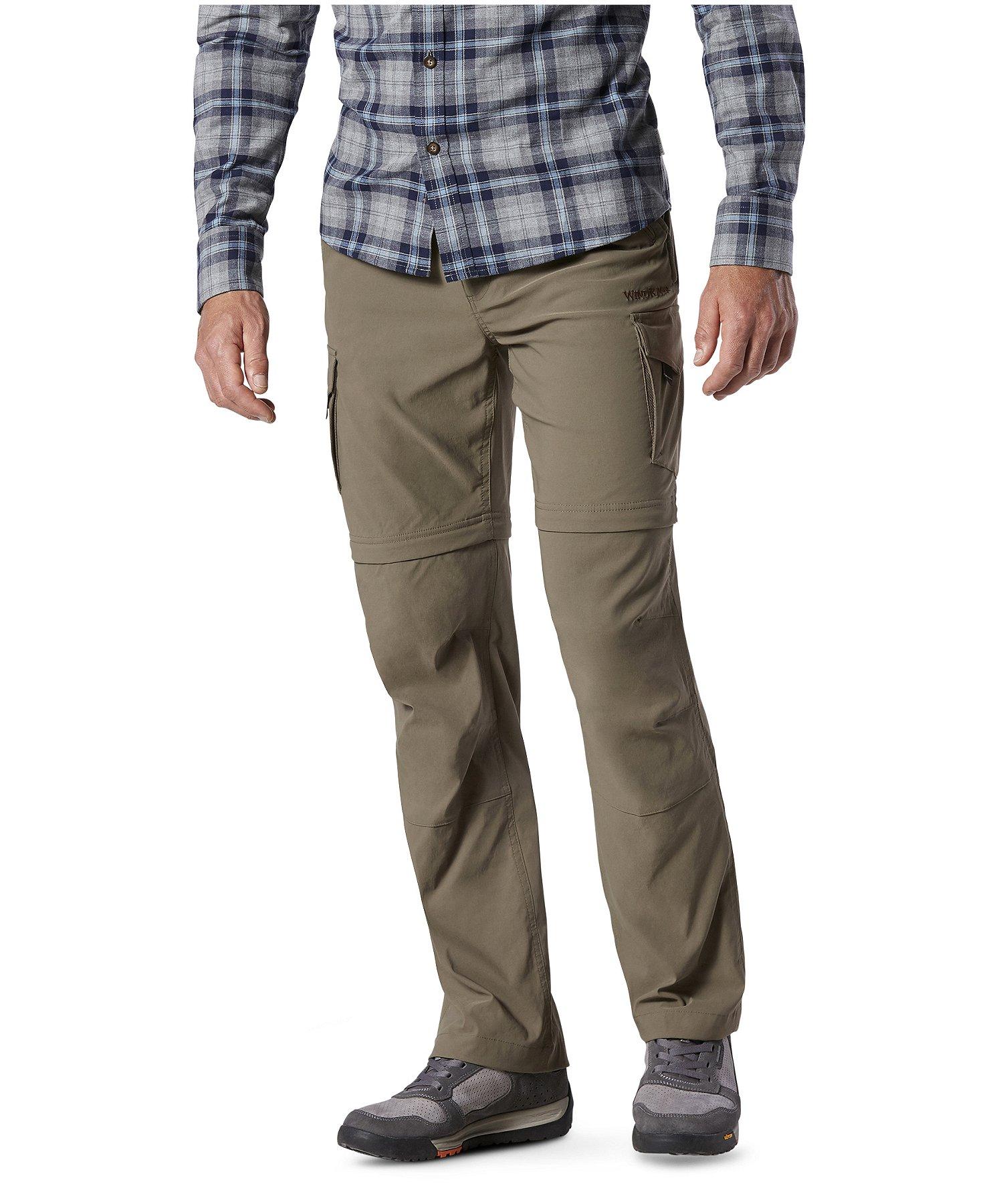 sortie d'usine brillance des couleurs couleurs harmonieuses Pantalon extensible à jambes amovibles à glissière pour hommes