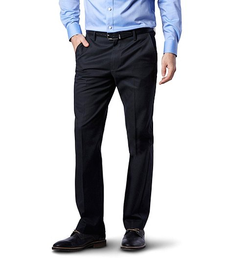 6708b557c9a Denver Hayes Men s Perfectly Pressed Flat Front Modern Fit Pants ...