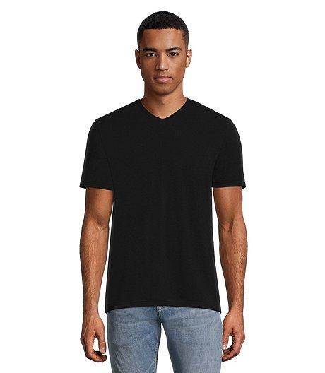 1462f54e3b96 Shoptagr | Men's Stretch V Neck T Shirt by Denver Hayes
