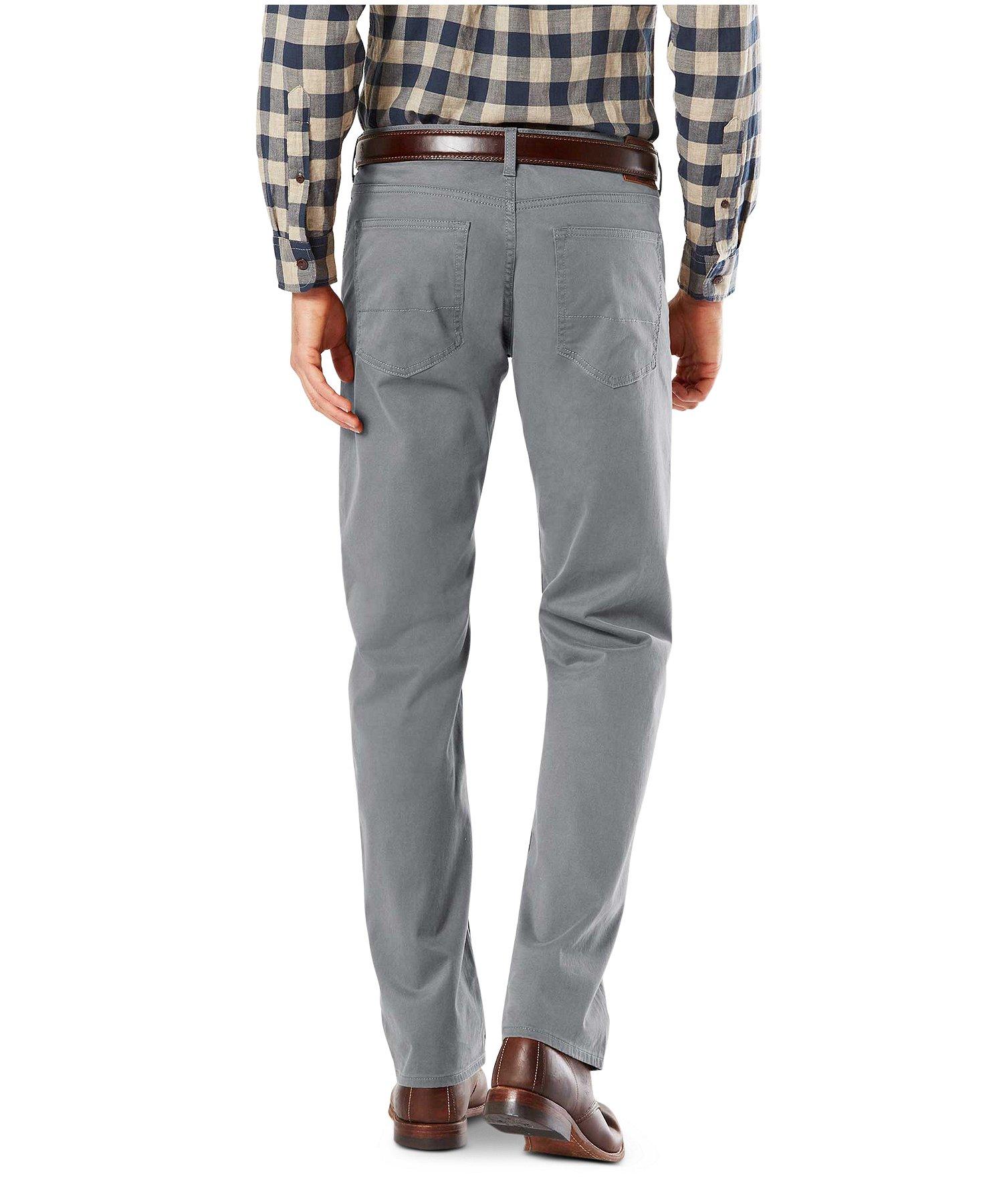 Essentials Mens Athletic-fit 5-Pocket Stretch Twill Pant