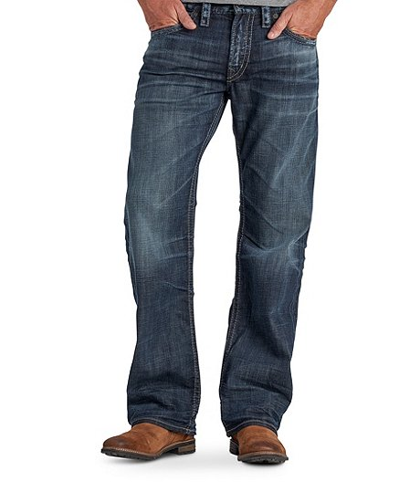 769cd826 Silver® Jeans Co. Men's Zac Relaxed Fit Straight Leg Medium Wash Jeans