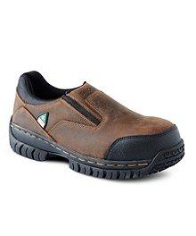 39052680afcb7a Skechers Work Men's Steel Toe Composite Plate Work Double Gore Slip-On Shoes  ...