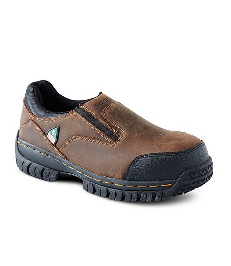 ba5d0d05525f Skechers Work Men s Steel Toe Composite Plate Work Double Gore Slip-On Shoes  ...