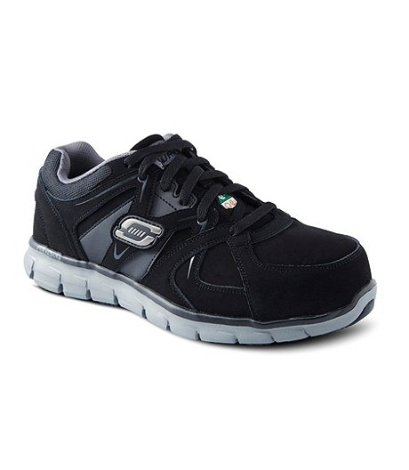 bbcc473ee91ce4 Skechers Work Men s Aluminum Toe Steel Plate Work Lace-Up Slip Resistant  Athletic Shoes