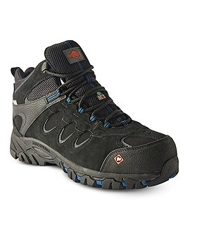 Merrell Work Men's Ridgepass Composite Toe Composite Plate Waterproof Work Boots