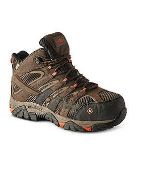 Merrell Work Men's Work Moab 2 Vent Composite Toe Composite Plate Waterproof Work Boots - Wide Width