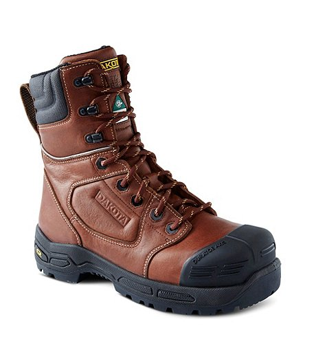 Men's 8 In 8410 Composite Toe Composite Plate Injected Work Boots