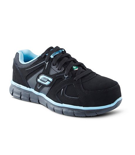 290cedb7248 Skechers Work Women s Aluminum Toe Steel Plate Work Athletic Slip Resistant  Shoes