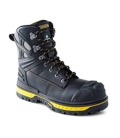 Men's 8 In Composite Toe Composite Plate Vibram Work Boots