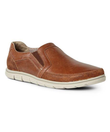 Rockport Bowman Double Gore Slip-On(Men's) -Boston Tan Leather
