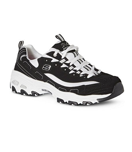 Women's D'Lites Biggest Fan Sneakers - Black/White