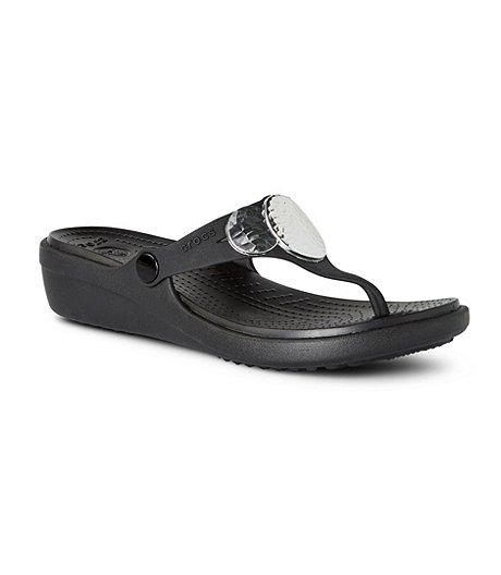 fabc69bff05 Crocs Women s Sanrah Embellished Wedge Sandals