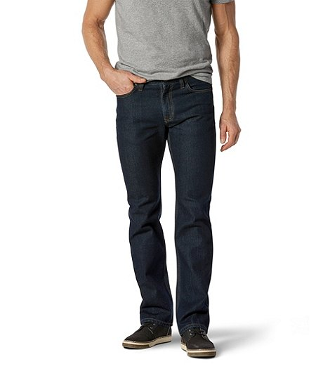 Men's Basic Straight Leg Jeans - Dark Wash