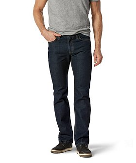 Denver Hayes Men's Basic Straight Leg Dark Wash Jeans