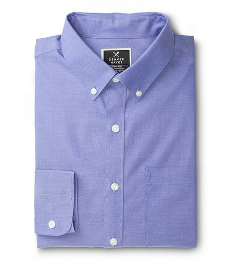 Men's Never Iron Oxford Shirt- Classic Fit