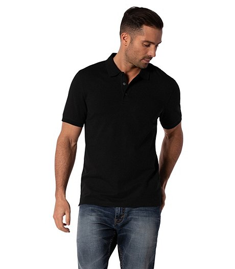 Men's Short Sleeve 50 Wash Stretch Pique Polo - Modern Fit