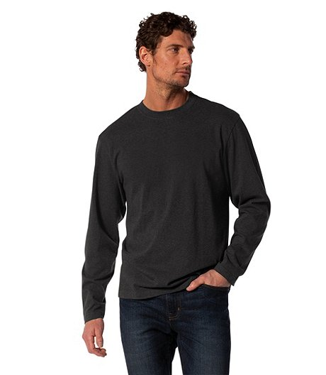 a9415bbb59e7 Denver Hayes Men's Long Sleeve 50 Wash Crew Neck T-Shirt
