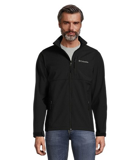 Men's Ascender Water & Wind Resistant Softshell Jacket - Black