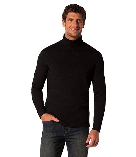 0ce4c8b68b9 Denver Hayes Men s Long Sleeve Interlock Basic Turtleneck