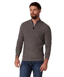 Denver Hayes Slub Stitch 1 4 Zip Sweater ... 788202120