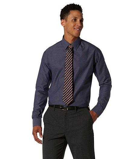 5dbab12bc4c Denver Hayes Men s Never Iron Textured Dress Shirt - Modern Fit