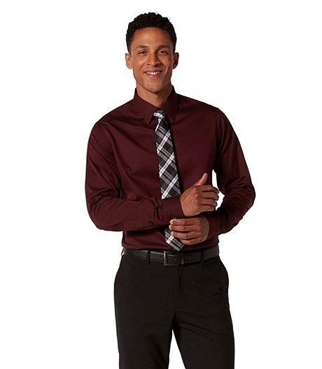 a002d884518 Denver Hayes Men s Never Iron Herringbone Dress Shirt- Modern Fit
