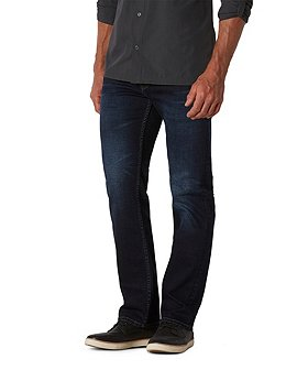 WindRiver Men's Water-Repellent HD1 Straight Fit Strong Jeans Dark Wash