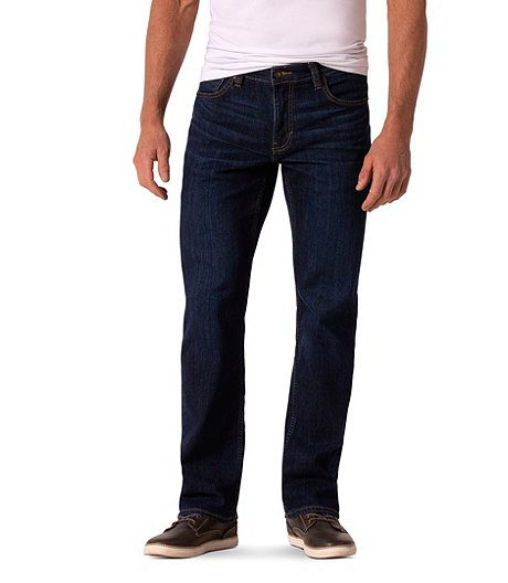 Men's Straight Fit Dark Wash Jeans