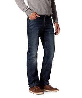WindRiver Men's T-MAX Plaid Flannel Lined Jeans