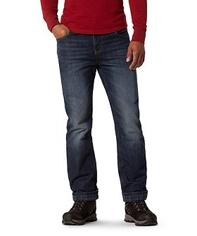 WindRiver Men's T-MAX Stretch Fleece Lined Jeans