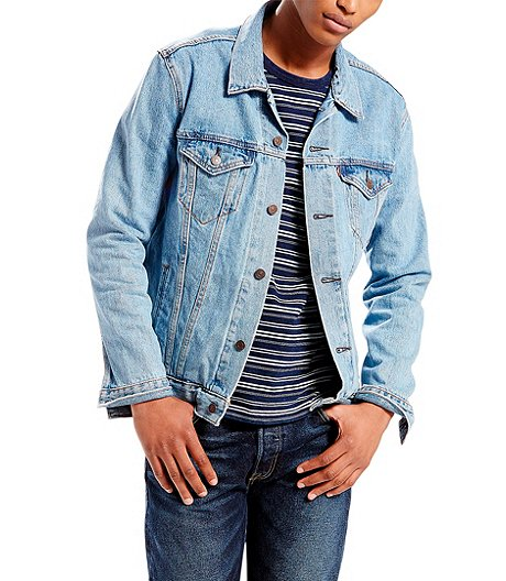 5e059edfc21 Levi s Men s The Trucker Mugito Stone Wash Denim Jacket