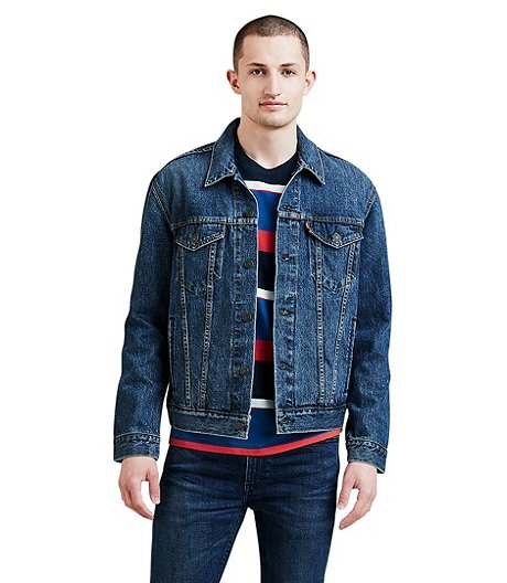 e45e4cea72678 Levi s Men s The Trucker Mugito Medium Wash Denim Jacket