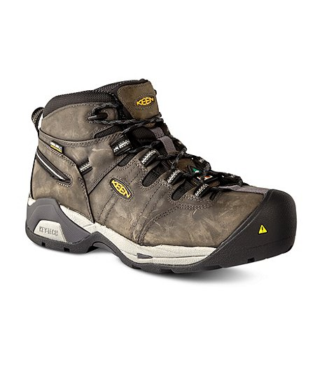 bcb9577d4b14 Keen Utility Men s Oshawa Mid Composite Toe Composite Plate Waterproof  Hiking Boots