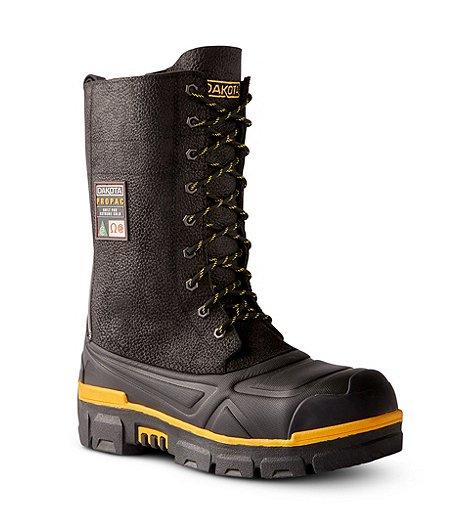 5233bf3f505 Men's 8527 Steel Toe Steel Plate Leather Winter Boots