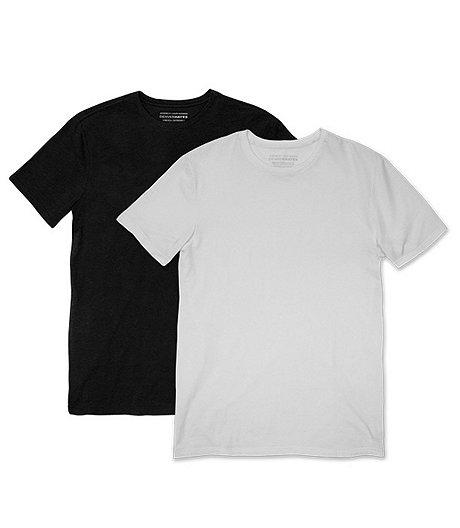 f04a8577fc6 Denver Hayes Men s Special Value 2-Pack Stretch Crew Neck T-Shirt