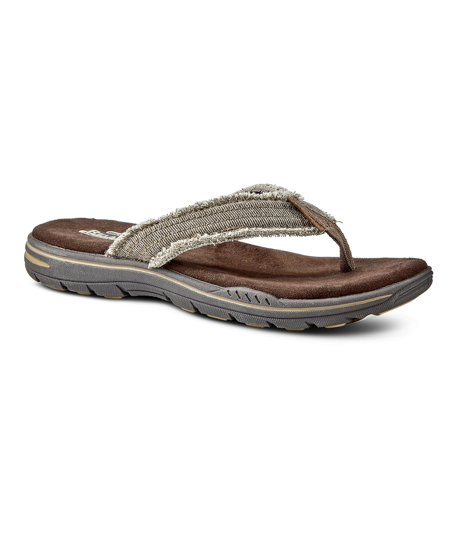skechers memory foam sandals mens