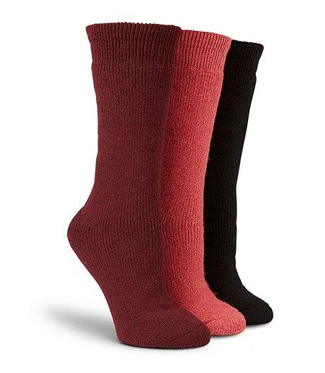 3f37e7abc3501 WindRiver Women's 3-Pack Below Zero Socks