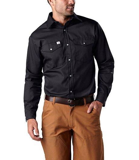 Men S Long Sleeve Snap Work Shirt Mark S