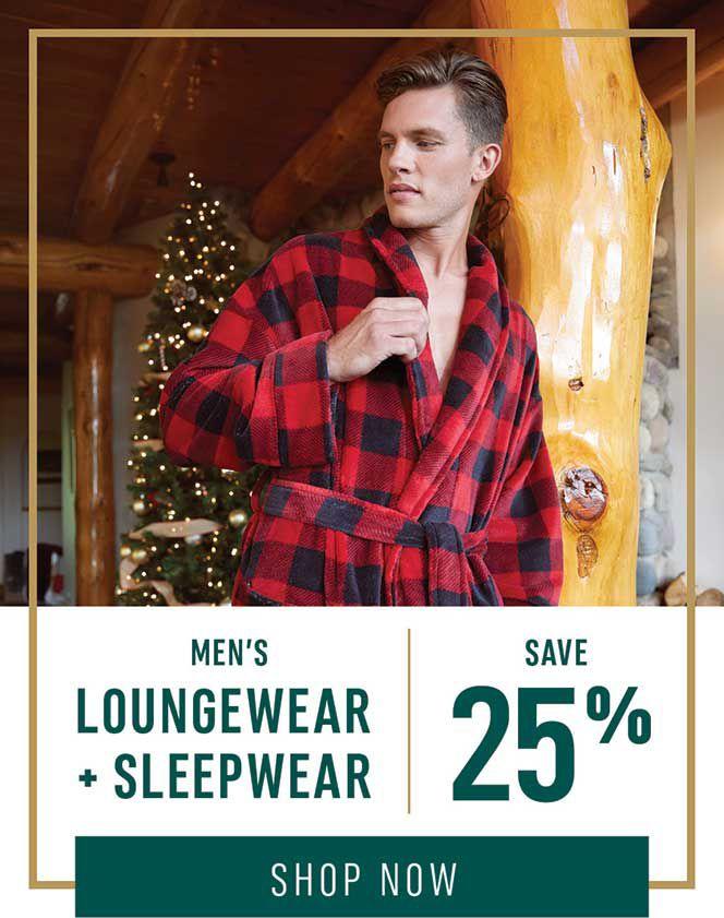Men's Loungewear + Sleepwear: Save 25%