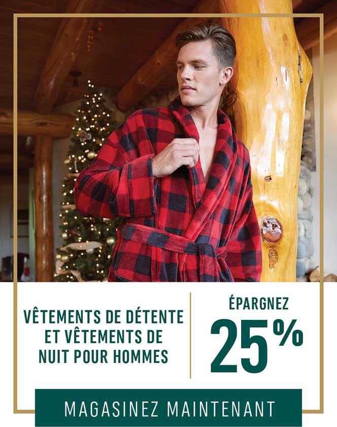 Vêtements de détente et vêtements de nuit pour hommes : Épargnez 25 %