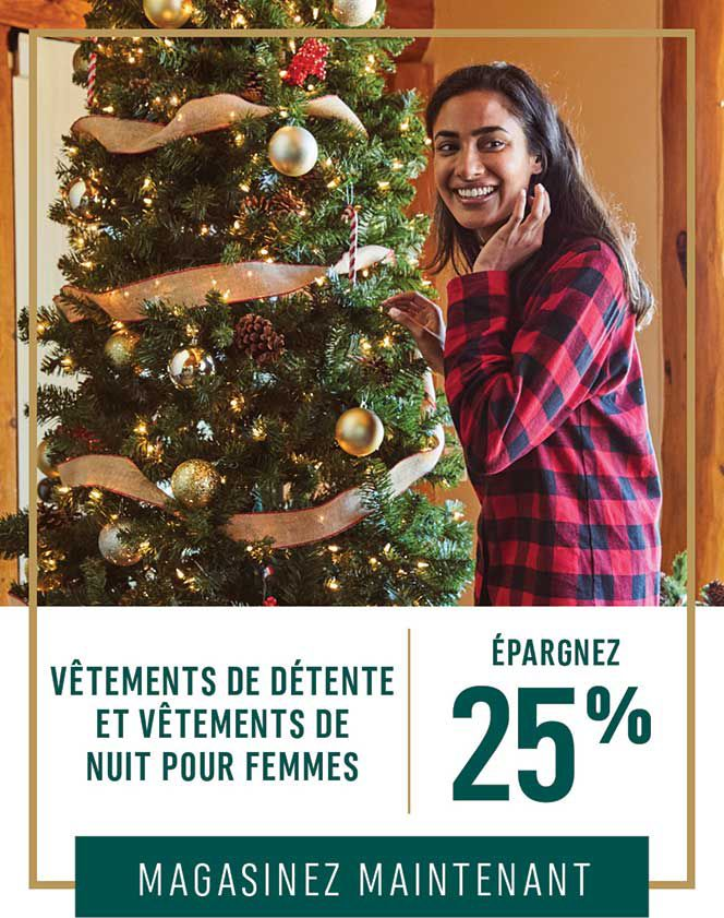 Vêtements de détente et vêtements de nuit pour femmes : Épargnez 25 %