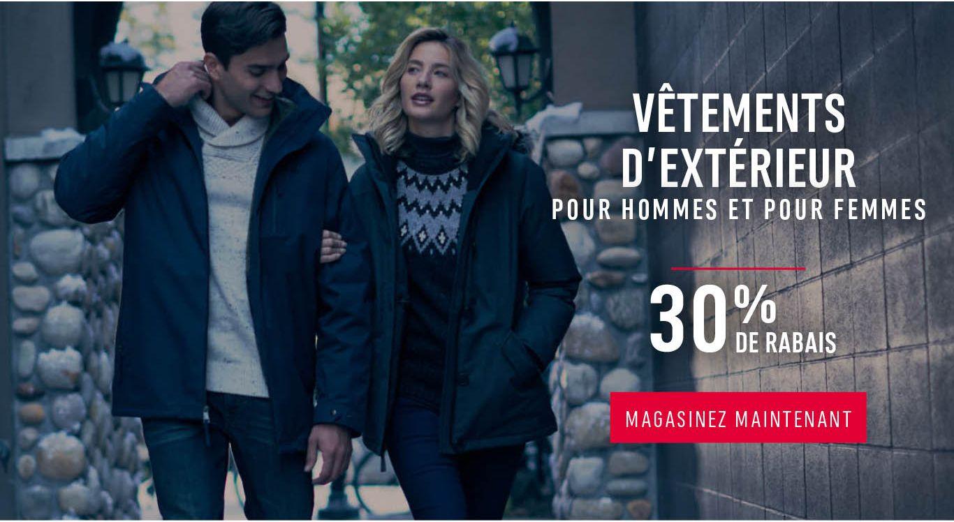 Vêtements d'extérieur à prix courant pour hommes et pour femmes. 30% de rabais - MAGASINEZ MAINTENANT