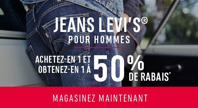 Jeans Levi's® pour hommes: ACHETEZ-EN 1 ET OBTENEZ-EN 1 À 50% DE RABAIS* - MAGASINEZ MAINTENANT