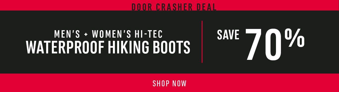 Men's + Women's Hi-Tec Waterproof Hiking Boots: Save 70% - SHOW NOW