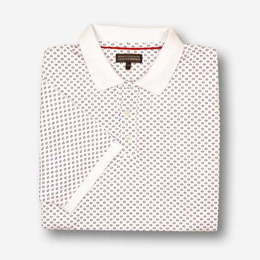 Men's Short Sleeve Interlock Polo - All Over Print