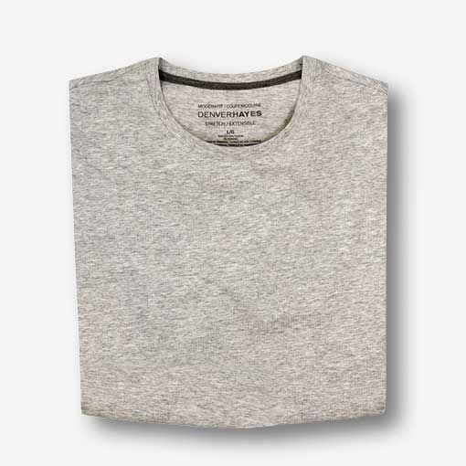 T-shirt extensible à encolure ras du cou pour hommes